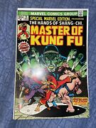 Special Marvel Edition 15 Shang-chi Mast Of Kung Fu First App W/ Lot Of Comics