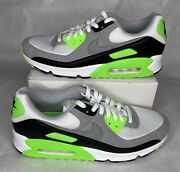 Vnds Nike Air Max 90 Menandrsquos Sz 12.5 Running Shoe Lime Green White Grey Cw5458-100
