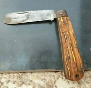 1910s Antique Rare Thomas Turner Encore Sailors Rope Stag Handle Knife Sheffield