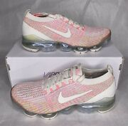 New Nike Air Vapormax Flyknit 3 Womens Size 10 Pink Andlsquosunset Pulseandrsquo Aj6910-008