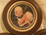 """Norman Rockwell Framed Decorative Plates 9"""""""