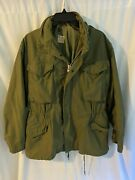 Vintage Military Army Mens Field Coat With Hood Small Short Og-107 100-69-c-2483