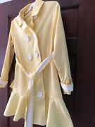 Girls Kc Parker By Hartstrings Yellow Dress Coat Jacket Size 7/8 Sophisticated