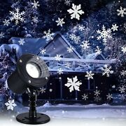 Christmas Projector Lights Outdoor Holiday Led Moving Snowfall Projector Black