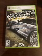 Need For Speed Most Wanted Microsoft Xbox 360, 2005 Disc, Case