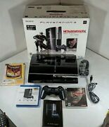 Sony Playstation 3 Ps3 - Metal Gear Solid 4 Guns Of The Patriot Bundle Ceche01