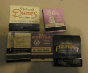 Vintage Lot Of 5 Matchbooks Matches Las Vegas Nevada Hotel And Casinos