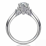 Ring Silver Art Deco Rings Round Cz Bright Vintage Marriage Class T56 G3 74