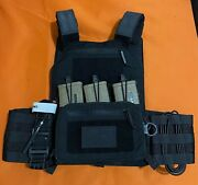 Lbx Armatus Ii Plate Carrier W/ Utility Front Flap - Black - Large Brand New
