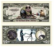 Pack Of 500 - Nightmare Before Christmas Limited Edition Collectible Bill