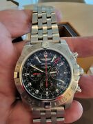 Breitling Chronomat Gmt Limited Edition 47mm Black Dial Stainless 484 Of 2000andnbsp