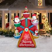 9and039 Animated Ferris Wheel Christmas Airblown Lighted Yard Inflatable Led Lights