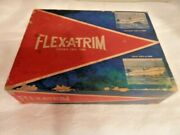 Vtg. 1970and039s Flex-a-trim With Installation Instructions Trim Tabs- Scott Molding