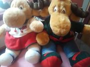 Vintage Max And Maxine Stuffed Christmas Animals-new With Tags