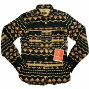 New Prps Goods And Co Menand039s Tribal Button Flannel Buuckle Bke Shirt Size S Small