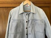 Vintage Leviand039s Denim Menand039s M Jacket 100 Cotton Pockets Stand-up Collar Usa Made
