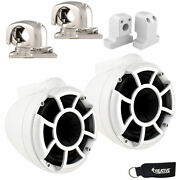 Wet Sounds For Supra Fxone Rev 8 Swivel Clamp Tower Speakers White With Brackets