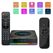 X96-x4 Android 11.0 8k Uhd 32gb Dual Wifi Tv Box+air Mouse Voice Keyboard Remote