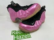 Nike Air Foamposite One Pearlized Pink Royal Electrolime Galaxy Stealth Sz 7