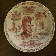 Will Rogers 1879 - 1935 , 10 Collectors Plate, By Vernon Kilns Free Shipping