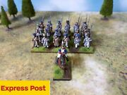Warlord Games 24 French Line Infantry And Officer On Horse Painted