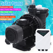 0.67hp Solar Swimming 500w Spa Pool Pump Motor Strainer 66gpm Above Ground