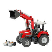 Tractor With Front End Loader + Power Functions + Ir Receiver Battery Box Bricks