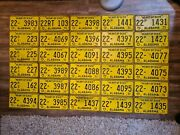 1971 Alabama License Plate Lot Of 30 Vintage Heart Of Dixie