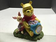 Disney Winnie The Pooh And Piglet Clock Figurine Collectible Christmas Gift Rare