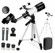 Telescope For Adults, 70mm Aperture 300mm Az Mount Astronomical Refracting