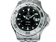 Tudor Date Hydro Note Tiger 89190 Black Automatic Ss Inspected 40mm