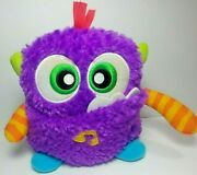 Fisher Price Vintage Giggles And039n Growls Monster Purple Fuzzy 6in Sensory Plush