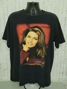 Vintage 1998 Shania Twain T-shirt Band Tour Tee Menand039s Size Xl 24 X 30 Country