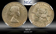 1962 New Zealand 1 Schilling Ngc Ms67 Finest Known