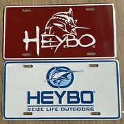 Heybo License Plates Lot Of 2 Seize Life Outdoors New In Shrink Wrap