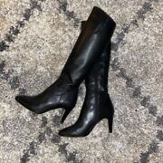 Duo Black Leather Narrow Calf Luxor Boots Us 7/ Uk 5/ 38 With 30 Cm Calf