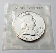 1963 Ben Franklin Half Dollar Uncirculated 90 Silver Proof Free Shipping
