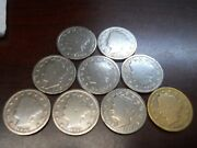 Lot Of 9 Liberty V Five Cent Coins 2x1900 1901 1904 1906 1907 1911 2x1912