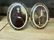 Two Celluloids African American Man And Woman Black Americana Rare Photo