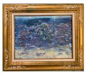 And039the Beachand039 28x22 Original Oil Paintings Framed Gold