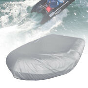 Boat Cover Heavy Duty Trailerable Rigid Inflatable Boat Dinghy Silver Grey 380cm