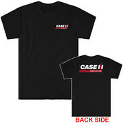Case Ih Tractor Logo Menand039s Black T-shirt Size S To 5xl