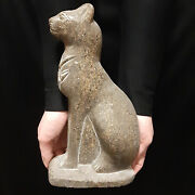 Pharaonic Egyptian Antique Antiques Egypt Antiquities Figurine Cat Statue -a368