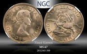 1963 New Zealand 1 Schilling Ngc Ms67 Finest Known