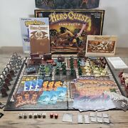 Heroquest Board Game Milton Bradley 100 Counted And Complete