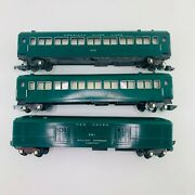 American Flyer Pw 651, 650, 650 New Haven Green Link Couplers Lot Of 3-cars