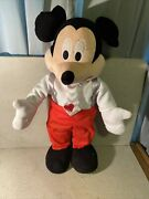 Disney Mickey Mouse Large Stuffed Animal 22 Inches Plush Soft Doll Stands Up