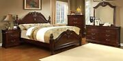 Eastern King Size Bed Dresser Mirror Nightstand Cherry Color Bedroom Furniture