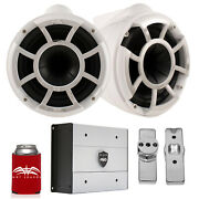 Wet Sounds For Nautique Fc5 Towers Rev10 10 White Tower Speakers And Amp