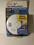 Smoke And Carbon Monoxide Alarm W Voice Warning Fire Co Alert Batteries Included